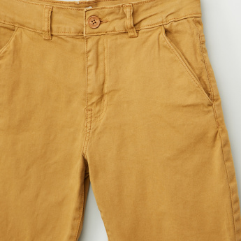 Lee Cooper Shorts with Button Closure and Pocket Detail