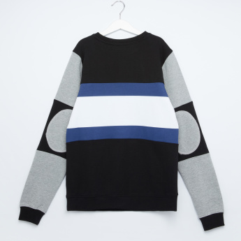 MAUI and Sons Striped Round Neck Pullover