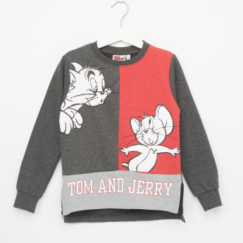 Tom and Jerry Printed Long Sleeves Pullover