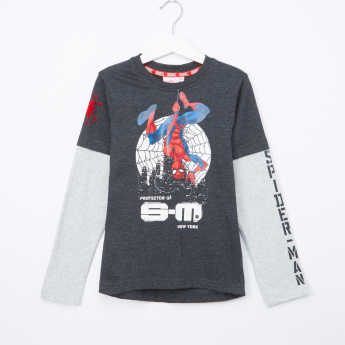 Spider-Man Printed Doctor Sleeves T-Shirt