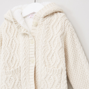 Juniors Fleece Chunky Cardigan