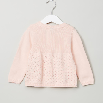 Giggles Textured Long Sleeves Sweater