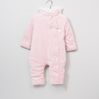 Giggles Textured Long Sleeves Coverall