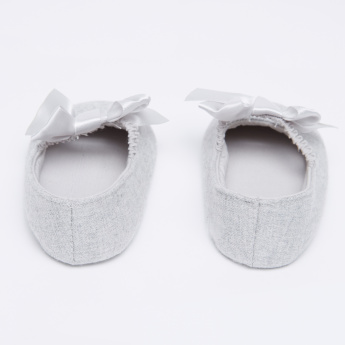 Giggles Bow Detail Booties with Elasticised Band