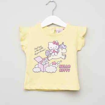 Hello Kitty Printed Short Sleeves Top - Set of 2