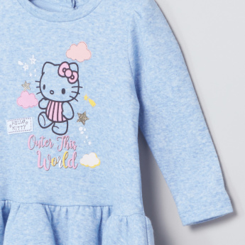 Hello Kitty Marl Dress with Kitty Graphic