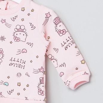 Hello Kitty Graphic Jog Set with Long Sleeves - 2 Piece