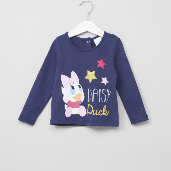Minnie Mouse and Daisy Duck Printed Round Neck Top - Set of 2