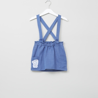 Tiny Tatty Teddy Printed Top with Pocket Detail Pinafore