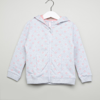 Juniors Printed Hooded Jacket