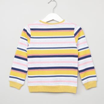 Juniors Striped Long Sleeves Pullover