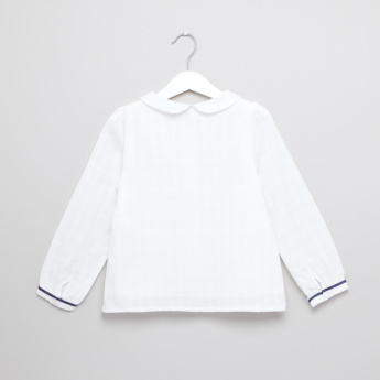 Eligo Applique Detail Long Sleeves Shirt