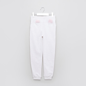 Hello Kitty Printed Jog Pants with Applique and Pocket Detail