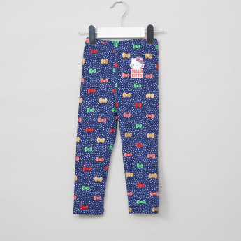 b1a8123dd4474 Hello Kitty Printed Full Length Leggings with Elasticised Waistband | Blue  | Leggings