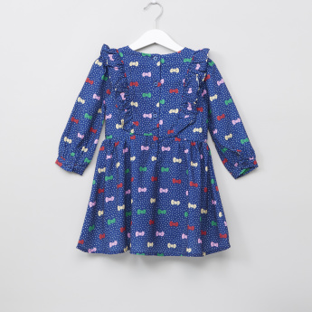 Hello Kitty Printed Long Sleeves Dress