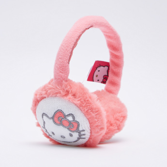 Hello Kitty Plush Earmuffs with Scarf