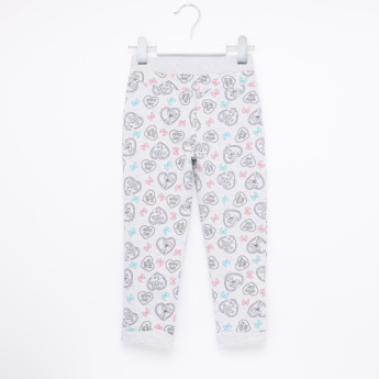 Duck Tales Printed Jog Pants with Elasticised Waistband