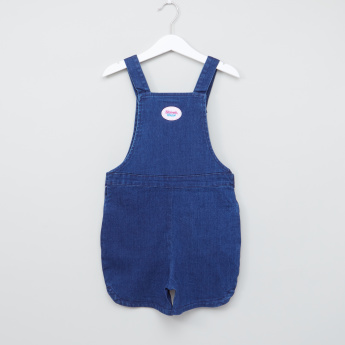 Shimmer and Shine Denim Dungarees with Button Closure