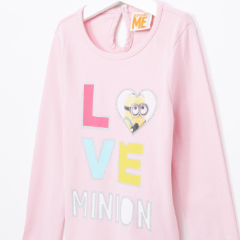 Minions Printed Round Neck Top