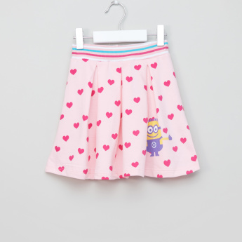 Minions Printed Skirt with Elasticised Waistband