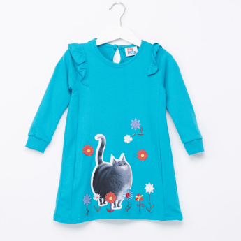 The Secret Life of Pets Embroidered Long Sleeves Dress