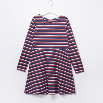 Juniors Striped Bow Detail Dress