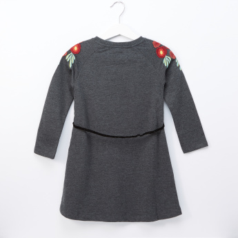 Juniors Charcoal Belt Dress