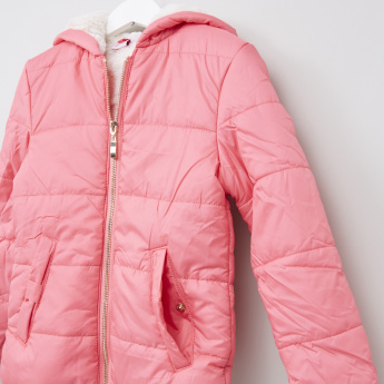 Juniors Quilted Long Sleeves Jacket