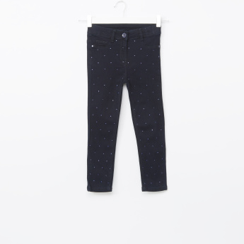 Juniors Studded Denim Pants