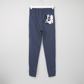 Juniors Joggers with Sequined Pocket Detail