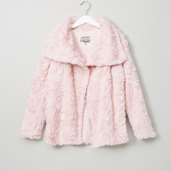 Posh Plush Detail Long Sleeves Jacket