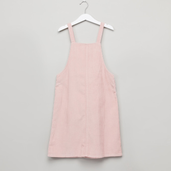 Posh Round Neck Top with Dungaree Dress
