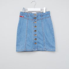 Lee Cooper Denim Skirt with Button Closure