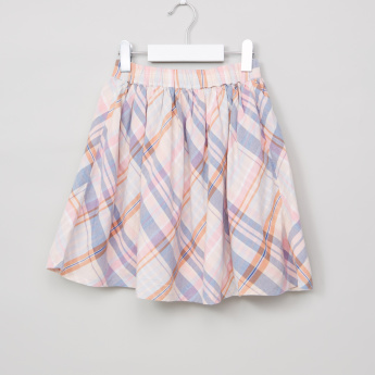 Lee Cooper Chequered Skirt with Elasticised Waistband
