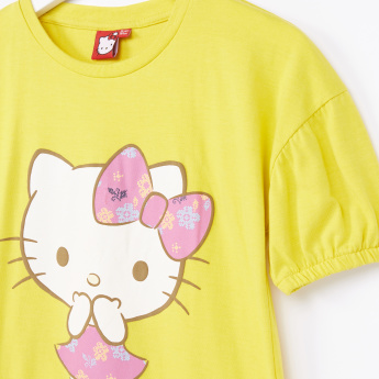 Hello Kitty T-Shirt with Balloon Sleeves