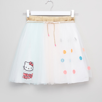 Hello Kitty Embroidered Tutu Skirt