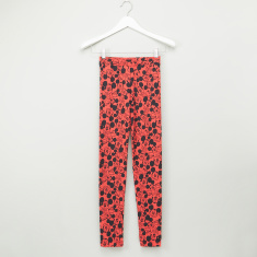 Mickey Mouse Printed Full Length Leggings with Elasticised Waistband