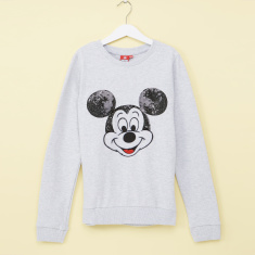 Mickey Mouse Sequin Detail Sweatshirt