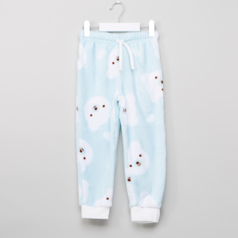Juniors Bear Face Fleece Pyjama Set