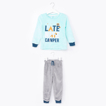 Juniors Latenight Camper Fleece Pyjama Set
