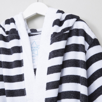 Juniors Bathrobe with Stripes