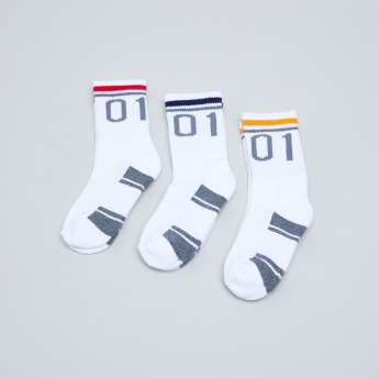 Juniors Textured Sports Socks - Set of 3