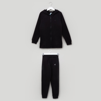 Juniors Hooded Sweatshirt and Jog Pants Set