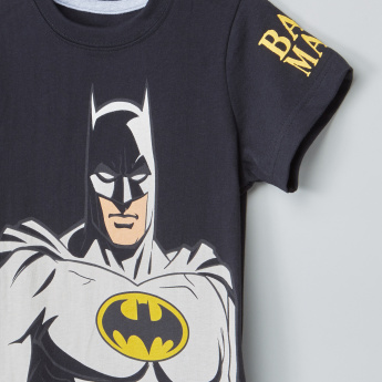 Batman Printed T-Shirt with Shorts
