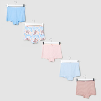 Juniors Assorted Boxer Briefs with Elasticised Waistband - Set of 5