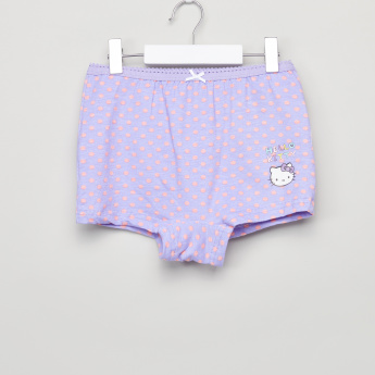 Hello Kitty Printed Boxer Briefs with Elasticised Waistband - Set of 3