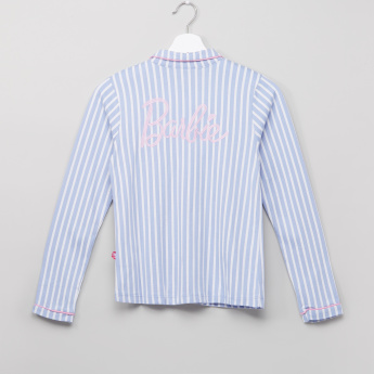 Barbie Striped Shirt and Pyjama Set