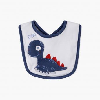 Juniors Dino Bib with Applique and Embroidery