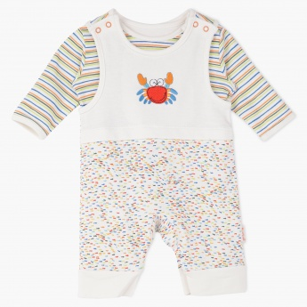 Juniors Printed Sleepsuit Dungaree