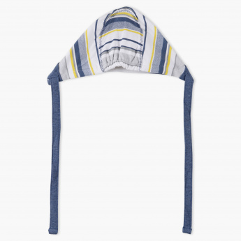 Juniors Striped Cap with Tie-Ups
